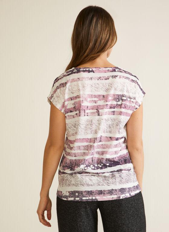 Rhinestone Detail T-Shirt, Red
