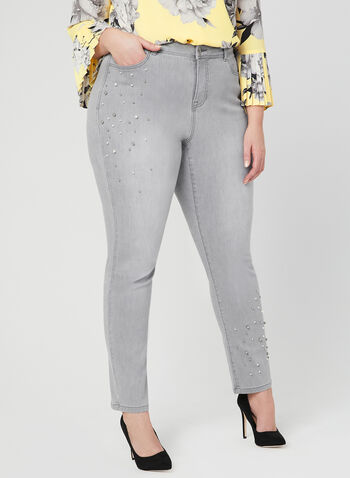 Signature Fit Straight Leg Jeans, Grey, hi-res