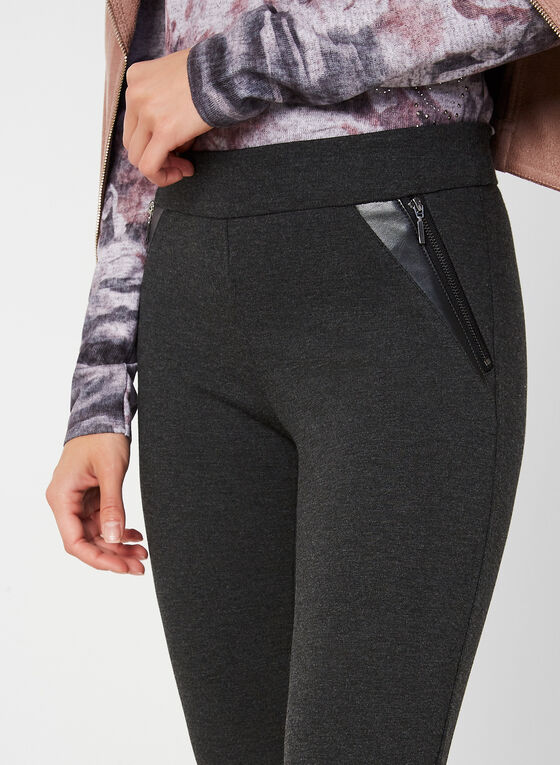 City Fit Slim Leg Pants , Grey