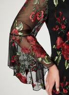Frank Lyman - Robe à broderies florales , Noir, hi-res