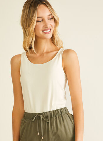 Cotton & Modal Tank Top, Grey,  top, tank, cotton, modal, spring summer 2020