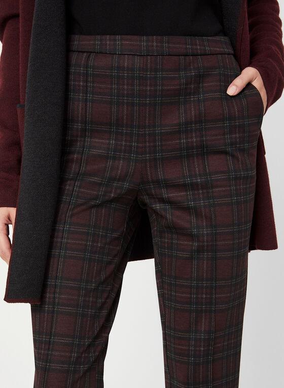 Pantalon coupe cité motif tartan, Noir