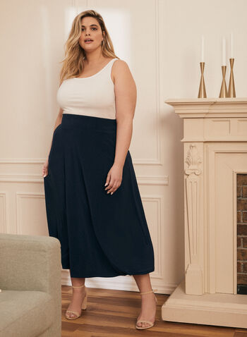 Pull-On Maxi Skirt, Blue,  skirt, maxi, pull-on, pockets, made in Canada, spring summer 2021