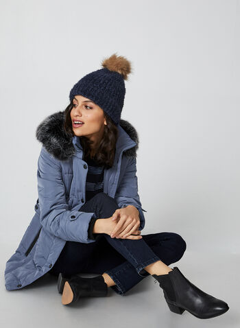 Northside - Box Quilt Coat, Blue, hi-res,  coat, quilt coat, quilted, snaps, pockets, zipper coat, water repellent, faux fur, faux fur coat, removable hood, fall 2019, winter 2019