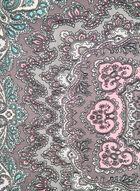 Lightweight Paisley Print Scarf, Grey, hi-res