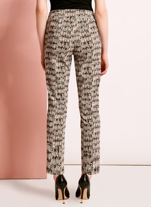 Pantalon 7/8 à motif abstrait, Vert, hi-res