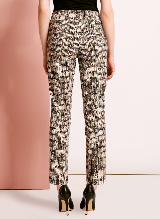 Pantalon ⅞ à motif abstrait, Vert, hi-res