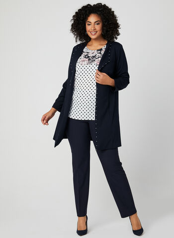 Floral Polka Dot Blouse, White, hi-res,