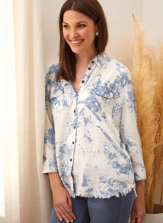 Charlie B - Abstract Print Shirt, Blue