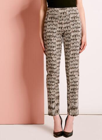 Abstract Print 7/8 Pants, , hi-res