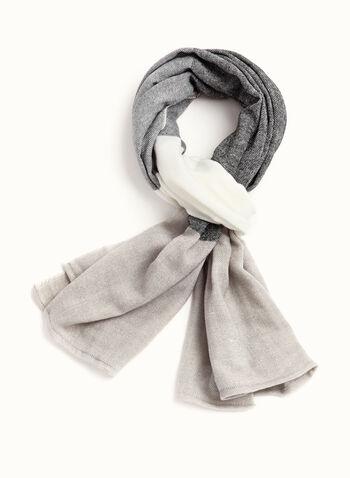 Grand foulard tricot à rayures, , hi-res
