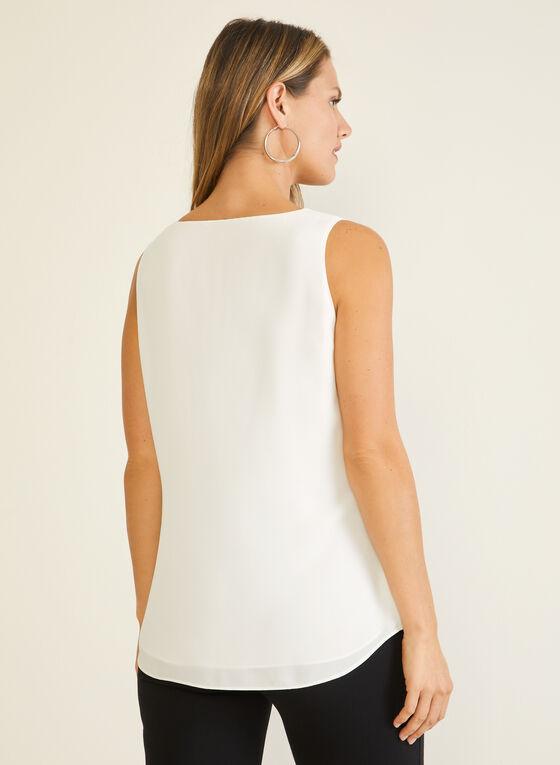 Sleeveless V-Neck Blouse, White