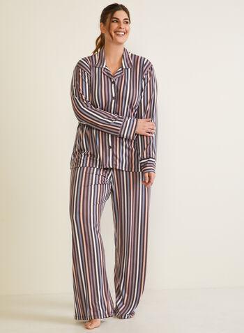 Floral Print Pyjama Set, Brown,  fall winter 2020, pyjama set