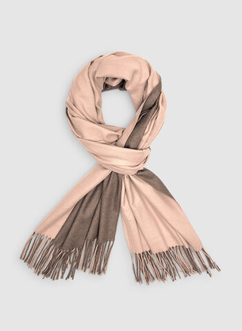 Foulard pashmina réversible, Rose, hi-res,  frange, deux tons, bi tons, automne hiver 2019