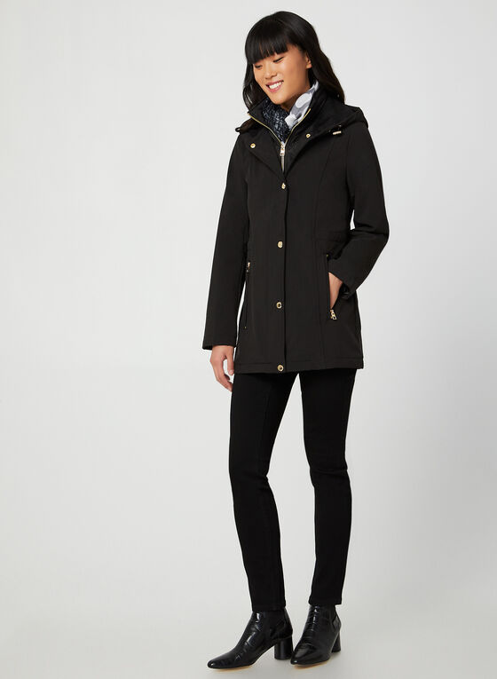 Anne Klein - Hooded Coat, Black
