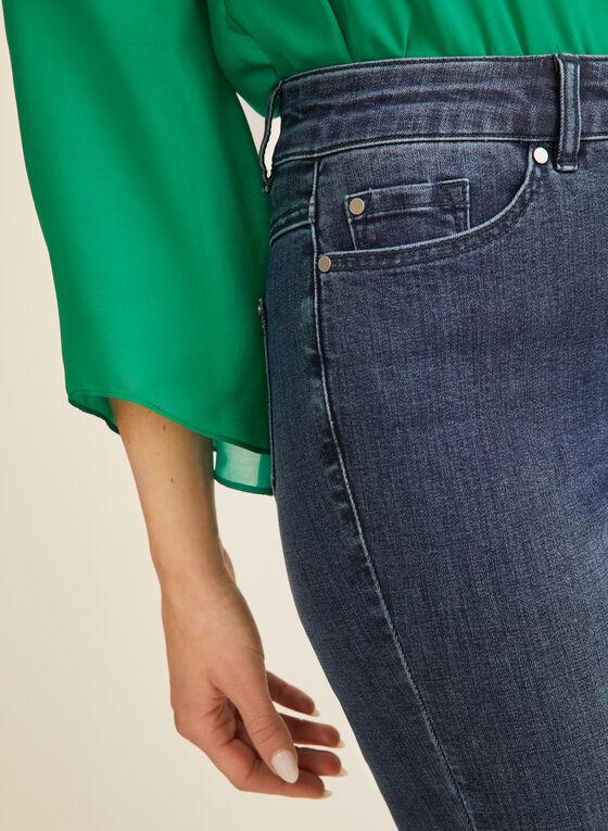 Jeans à jambe étroite longueur cheville, Bleu