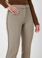 Pantalon à imprimé pied-de-poule, Brun