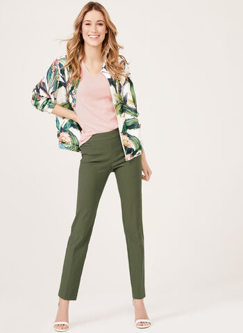 Ness - Tropical Inspired Print Bomber Jacket, White, hi-res