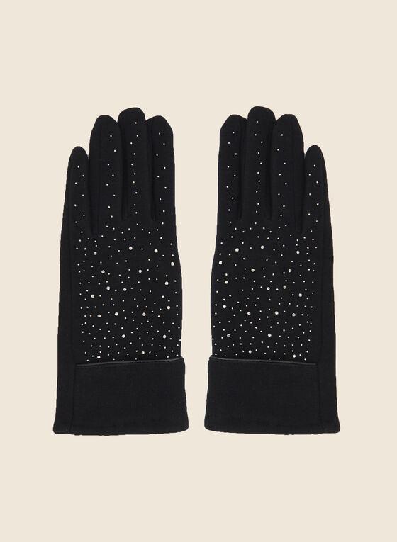 Studded Gloves, Black