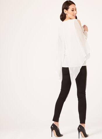 Crystal Embellished Chiffon Blouse, Off White, hi-res