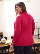 Turtleneck Sweater With Button Details, Pink