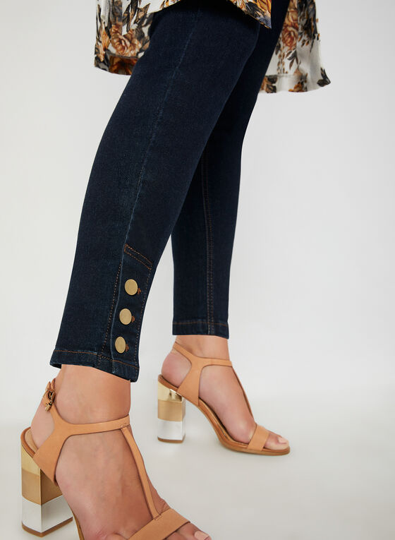 Signature Fit Ankle Jeans, Blue, hi-res