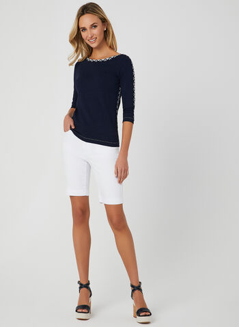 Alison Sheri - Bermuda 5 poches, Blanc, hi-res