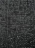 Foulard oblong à détails cloutés, Noir