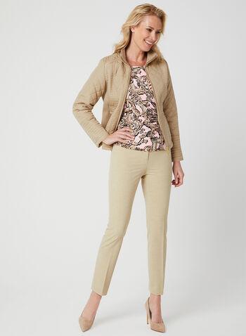 Weatherproof - Quilted Coat, Brown, hi-res