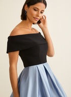 Flare Off-The-Shoulder Dress, Black