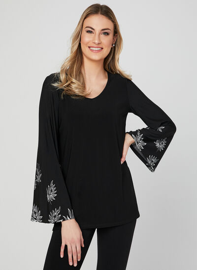 Bell Sleeve Jersey Top