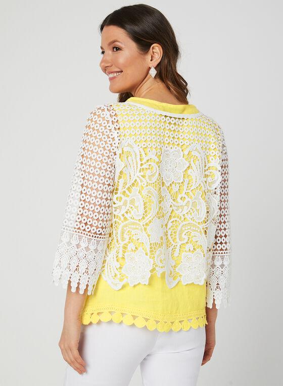 Ness - ¾ Sleeve Crochet Bolero, Off White, hi-res