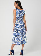 Floral Jersey Dress, Blue, hi-res