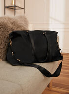 Detachable Shoulder Strap Duffel Bag, Black