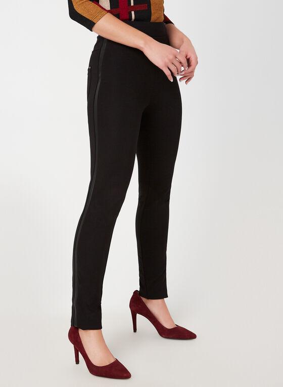 Vex - Legging coupe cité à bandes en faux cuir, Noir, hi-res