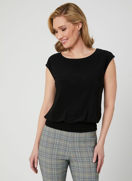 Drop Shoulder Jersey Top, Black