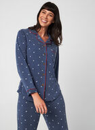 Claudel Lingerie - Ensemble pyjama, Bleu, hi-res