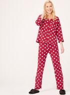 Bellina - Cat Print Pajama Set, Pink, hi-res