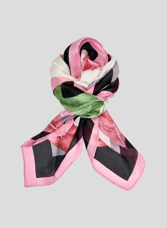 Foulard léger motif tulipe, Rose, hi-res