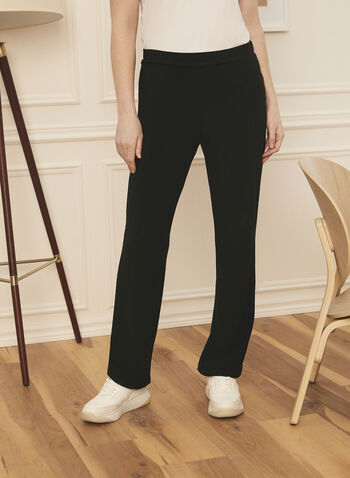 Modern Fit Straight Leg Pants, Black,  Canada, Modern Fit, pants, straight leg, pull-on, elastic waist, spring summer 2021
