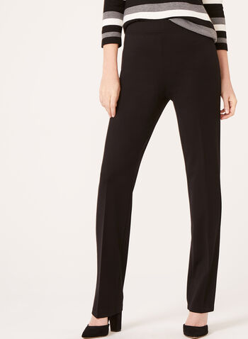Picadilly - Pull-On Slim Leg Pants, Black, hi-res