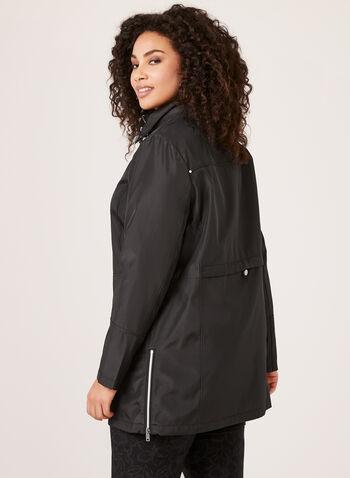 Novelti - Manteau imperméable et réfléchissant à capuchon amovible, Noir, hi-res