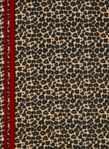 Leopard Print Scarf, Red,  scarf, fringes, leopard, fall 2019, winter 2019