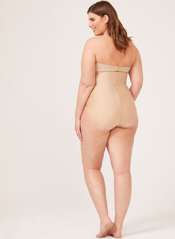 Body Hush - Culotte gainante à taille haute, Blanc cassé,