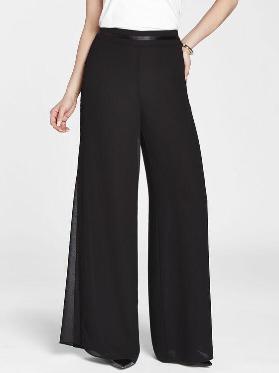 791b45f3729a7 ... Modern Fit Georgette Overlay Wide Leg Pants