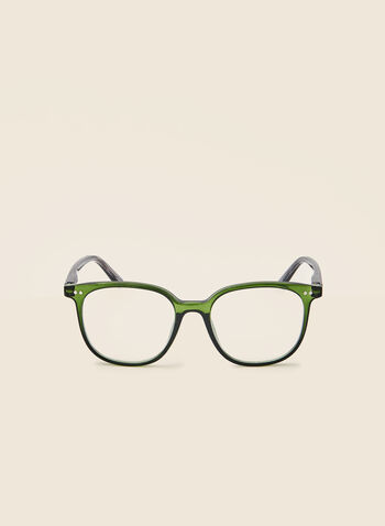 Rounded Reading Glasses, Green,  fall winter 2020, glasses, reading, rounded, abstract print, plastic frame, vision, eye
