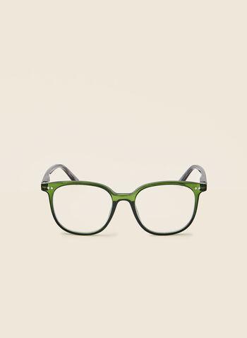 Lunettes de lecture , Vert,  automne hiver 2020, lunettes, lecture, forme arrondie, plastique, imprimé abstrait