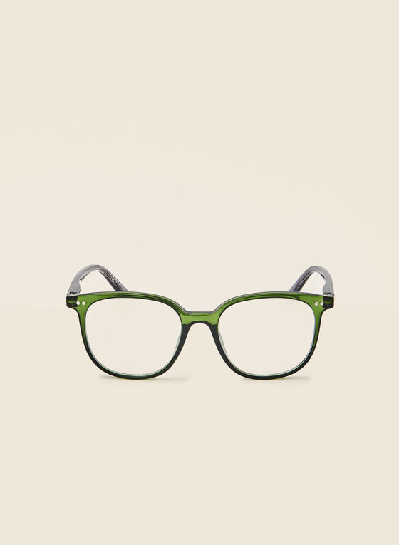 Rounded Reading Glasses, Green