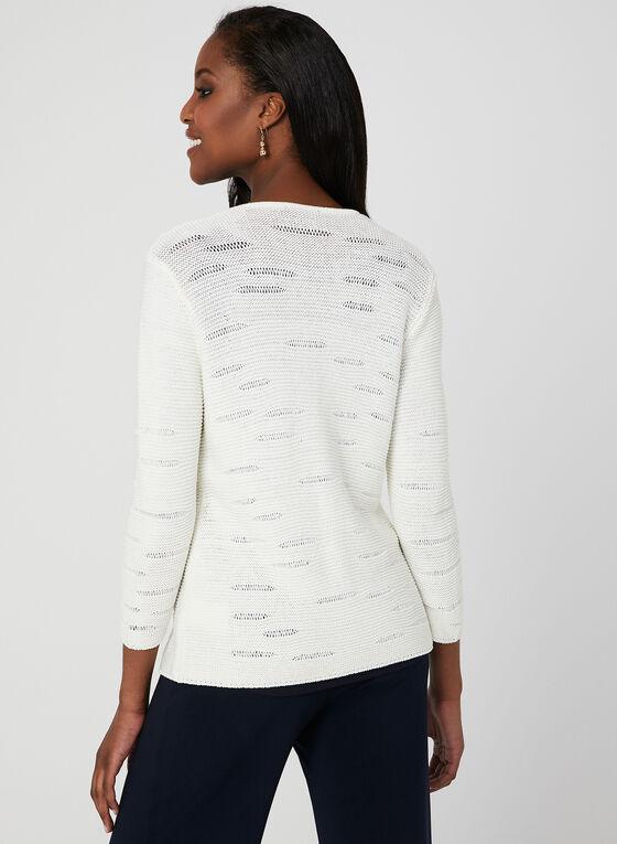 Alison Sheri - Cardigan en tricot à boutons nacrés, Blanc, hi-res