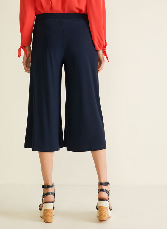 Pull-On Gaucho Pants, Blue